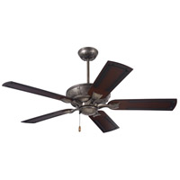 Welland 54 inch Vintage Steel with Rustic Tropical Medium Antique Brown Blades Indoor-Outdoor Ceiling Fan