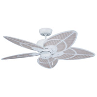 Emerson CF621SW Batalie Breeze 52 inch Satin White with Light Wicker with Satin White Highlights Blades Indoor-Outdoor Ceiling Fan in Light Wicker/Satin White Highlights