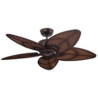 Batalie Breeze 52 inch Venetian Bronze with Antique Stain Wicker Blades Indoor-Outdoor Ceiling Fan