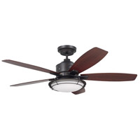 Rockpointe 54 inch Oil Rubbed Bronze with Walnut Blades Indoor/Outdoor Ceiling Fan