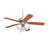 Pro Series 42 inch Brushed Steel with Dark Cherrty/Mahogany Blades Ceiling Fan in Maple/Natural Cherry