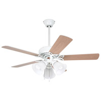 Emerson CF710WW Pro Series 42 inch Appliance White with Appl. White/Bleached Oak Blades Ceiling Fan in Appliance White/Bleached Oak alternative photo thumbnail