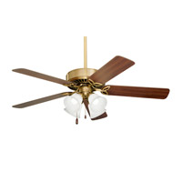 Emerson Fans 50in Pro Series II 4 Light Ceiling Fan in Antique Brass with Walnut/Medium Oak Blades CF711AB