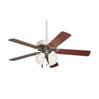 Pro Series II Brushed Steel Dark Cherry/Mahogany Ceiling Fan in Alabaster Swirl