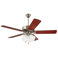 Emerson CF711BS Pro Series 50 inch Brushed Steel with Dark Cherry/Mahogany Blades Ceiling Fan in Alabaster Swirl alternative photo thumbnail