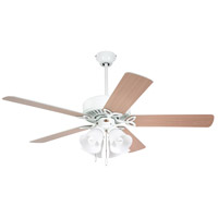 Emerson CF711WW Pro Series 50 inch Appliance White with Appl. White/Bleached Oak Blades Ceiling Fan in Alabaster Swirl, Appliance White/Bleached Oak alternative photo thumbnail