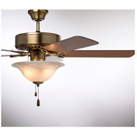 Emerson CF712AB Pro Series 50 inch Antique Brass with Medium Oak/Walnut Blades Ceiling Fan in Alabaster Swirl alternative photo thumbnail