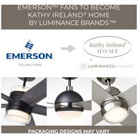 Emerson CF712BS Pro Series 50 inch Brushed Steel with Dark Cherry/Mahogany Blades Ceiling Fan in Alabaster Swirl alternative photo thumbnail