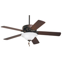 Pro Series 50 inch Oil Rubbed Bronze Dark Cherry/Medium Oak Ceiling Fan in Opal Matte