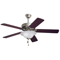 Pro Series ES 50 inch Brushed Steel with Dark Cherry/Mahogany Blades Ceiling Fan in Alabaster Swirl
