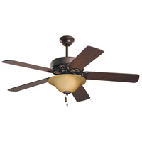 Pro Series ES 50 inch Oil Rubbed Bronze with Dark Cherry/Medium Oak Blades Ceiling Fan in Amber Scavo