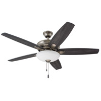 Ashland 52 inch Antique Pewter with Charcoal/Timber Gray Blades Indoor Ceiling Fan