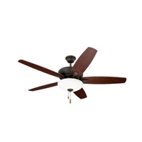 Ashland 52 inch Oil Rubbed Bronze with Dark Cherry/Walnut Blades Ceiling Fan