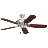 Designer 52 inch Brushed Steel with Dark Cherry/Mahogany Blades Ceiling Fan