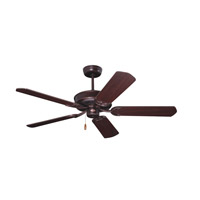 Designer 52 inch Venetian Bronze with Dark Cherry/Mahogany Blades Ceiling Fan