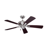 Monterey II 52 inch Brushed Steel with Dark Cherry/Mahogany Blades Ceiling Fan