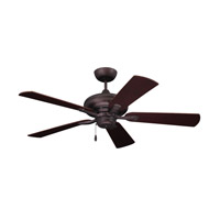 Monterey II 52 inch Oil Rubbed Bronze with Dark Cherry/Walnut Blades Ceiling Fan