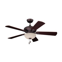 Monterey Lumina 52 inch Oil Rubbed Bronze with Dark Cherry/Walnut Blades Ceiling Fan in Amber Mist