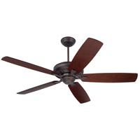 Emerson Fans Carrera Ceiling Fan in Oil Rubbed Bronze with Dark Mahogany and Walnut Blades CF784ORB