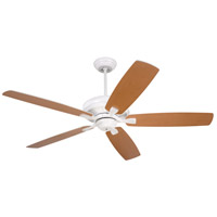 Carrera 60 inch Satin White with Satin White/Maple Blades Ceiling Fan