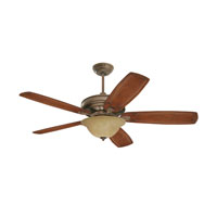 Emerson Amber Parchment 3 Light Fan Glass in Gilded Bronze LK71GBZ