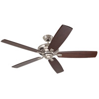 Carrera Grande Eco Brushed Steel Indoor/Outdoor Ceiling Fan, Blades Sold Separately