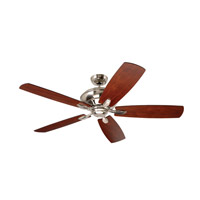 Emerson CF790BS Crofton 58 inch Brushed Steel with Dark Mahogany/Walnut Blades Ceiling Fan photo thumbnail