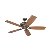 Crofton 58 inch Vintage Steel Riverwash and Walnut Ceiling Fan in Riverwash/Walnut