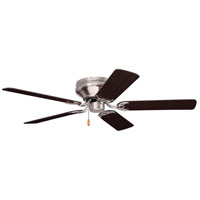 Emerson Fans Snugger Flush-Mount Ceiling Fan in Brushed Steel with Dark Cherry and Mahogany Blades CF804SBS