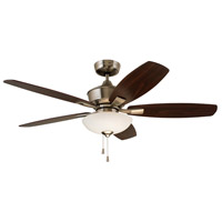 Lindell 52 inch Brushed Steel with Dark Cherry/Walnut Blades Indoor Ceiling Fan