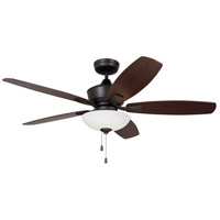 Lindell 52 inch Oil Rubbed Bronze with Dark Cherry/Walnut Blades Indoor Ceiling Fan