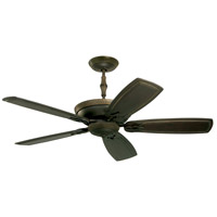 Emerson Fans Monaco 4 Light Ceiling Fan in Golden Espresso with Vintage Black Hand Carved Blades CF830GES