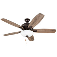 Emerson CF835ORB DC Builder 52 inch Oil Rubbed Bronze with Walnut/Aged Oak Blades Indoor Ceiling Fan Pro Series