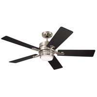Emerson CF880LBS Amhurst 54 inch Brushed Steel with Dark Cherry/Chocolate Blades Ceiling Fan