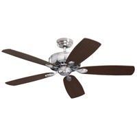 Prima 52 inch Brushed Steel with Dark Cherry/Chocolate Blades Ceiling Fan