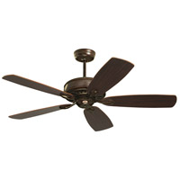 Prima 52 inch Venetian Bronze with Dark Cherry/Walnut Blades Ceiling Fan