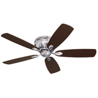 Prima Snugger 52 inch Brushed Steel with Dark Cherry/Chocolate Blades Ceiling Fan