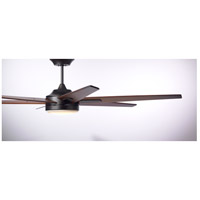 Rah Eco 72 inch Oil Rubbed Bronze with Sunburst Walnut Blades Indoor Ceiling Fan