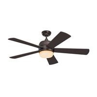 Atomical 52 inch Oil Rubbed Bronze with Mahogany Blades Indoor-Outdoor Ceiling Fan in Teastained