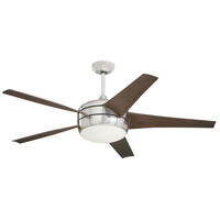 Midway Eco 54 inch Brushed Steel with Midnight Bordeaux Blades Ceiling Fan