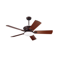Portland Eco 54 inch Venetian Bronze with Dark Mahogany/Walnut Blades Ceiling Fan
