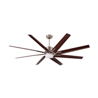 Aira Eco 72 inch Brushed Steel with Walnut Blades Ceiling Fan
