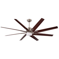 Emerson CF985LBS Aira Eco 72 inch Brushed Steel with All-Weather Walnut Blades Ceiling Fan