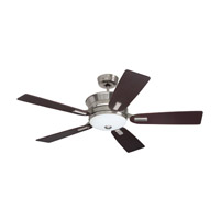 Highgrove 52 inch Brushed Steel with Dark Mahogany Blades Ceiling Fan in Opal Matte