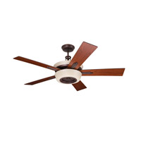 Laclede Eco 62 inch Venetian Bronze with Dark Mahogany/Walnut Blades Ceiling Fan in Vintage Cream