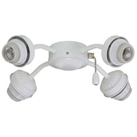 Signature 4 Light CFL Satin White Fan Fitter