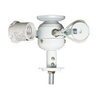 Emerson Fans Build A Light Kit - Medium Base Fitter 3 Light Fan Acessory in Appliance White F480WW