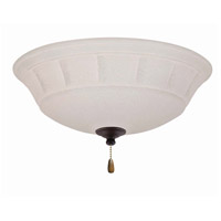 Grande White 3 Light Golden Espresso Fan Light Kit