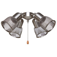 Mesh 4 Light Brushed Steel Fan Light Kit