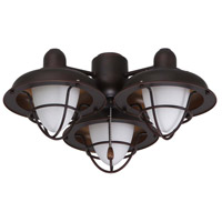 Boardwalk Cage 3 Light Oil Rubbed Bronze Fan Light Kit